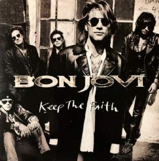 "Bon Jovi - Keep The Faith (7"") (G-VG/VG+)"